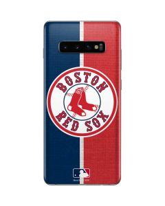 Boston Red Sox Split Galaxy S10 Plus Skin