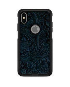 Botanical Flourish Blue Otterbox Commuter iPhone Skin