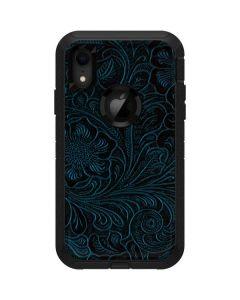 Botanical Flourish Blue Otterbox Defender iPhone Skin
