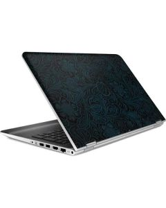 Botanical Flourish Blue HP Pavilion Skin