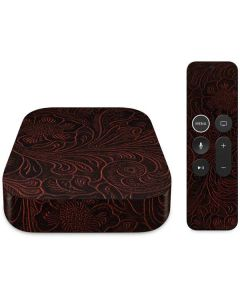 Botanical Flourish Sepia Apple TV Skin