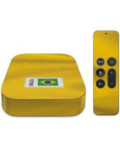 Brazil Soccer Flag Apple TV Skin