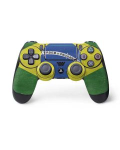 Brazil Flag Distressed PS4 Pro/Slim Controller Skin