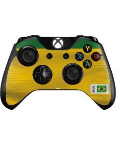 Brazil Soccer Flag Xbox One Controller Skin