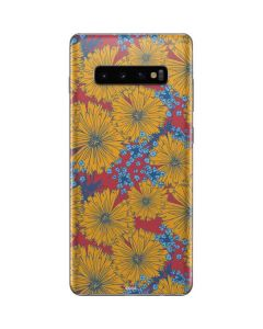 Bright Fall Flowers Galaxy S10 Plus Skin