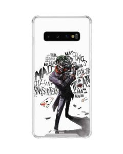 Brilliantly Twisted - The Joker Galaxy S10 Clear Case