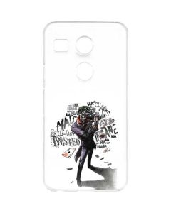 Brilliantly Twisted - The Joker Google Nexus 5X Clear Case