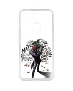 Brilliantly Twisted - The Joker Google Pixel 3 Clear Case