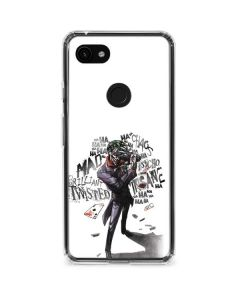Brilliantly Twisted - The Joker Google Pixel 3a Clear Case