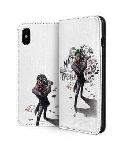 Brilliantly Twisted - The Joker iPhone XS Folio Case