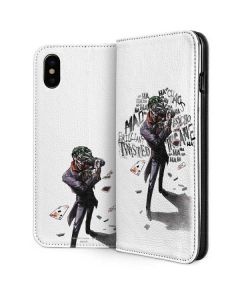 Brilliantly Twisted - The Joker iPhone XS Max Folio Case