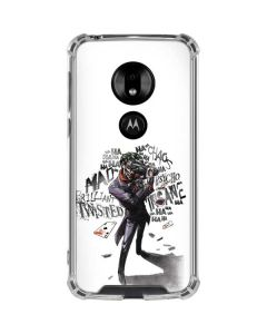 Brilliantly Twisted - The Joker Moto G7 Play Clear Case