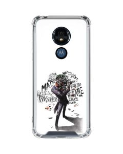 Brilliantly Twisted - The Joker Moto G7 Power Clear Case
