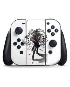Brilliantly Twisted - The Joker Nintendo Switch Joy Con Controller Skin