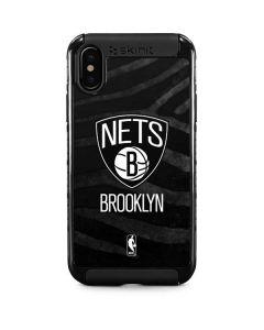 Brooklyn Nets Black Animal Print iPhone XS Max Cargo Case