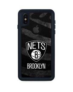 Brooklyn Nets Black Animal Print iPhone XS Waterproof Case