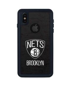 Brooklyn Nets Distressed iPhone XS Waterproof Case