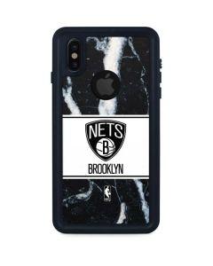 Brooklyn Nets Marble iPhone XS Waterproof Case