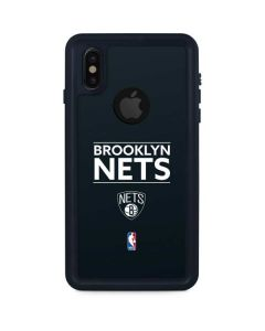 Brooklyn Nets Standard - Black iPhone XS Waterproof Case