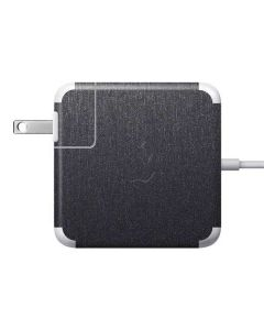 Brushed Steel Texture Apple Charger Skin