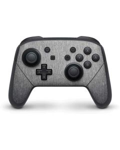 Brushed Steel Texture Nintendo Switch Pro Controller Skin