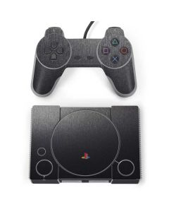 Brushed Steel Texture PlayStation Classic Bundle Skin