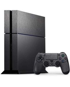 Brushed Steel Texture PS4 Console and Controller Bundle Skin