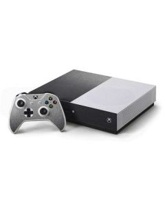 Brushed Steel Texture Xbox One S Console and Controller Bundle Skin