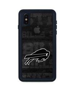 Buffalo Bills Black & White iPhone XS Waterproof Case