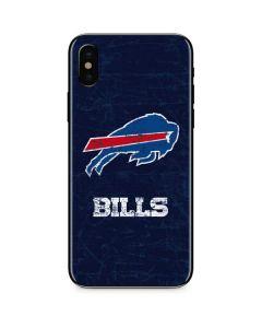 Buffalo Bills Distressed iPhone X Skin