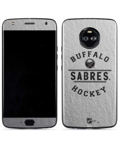 Buffalo Sabres Black Text Moto X4 Skin