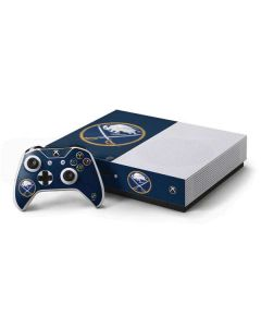 Buffalo Sabres Distressed Xbox One S Console and Controller Bundle Skin