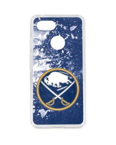 Buffalo Sabres Frozen Google Pixel 3 Clear Case