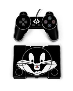 Bugs Bunny Plain Black and White PlayStation Classic Bundle Skin