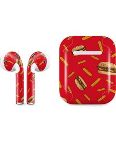 Burgers and Fries Apple AirPods Skin