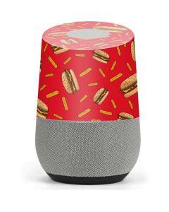 Burgers and Fries Google Home Skin
