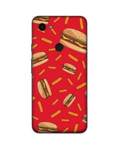 Burgers and Fries Google Pixel 3a Skin