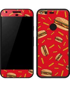Burgers and Fries Google Pixel Skin