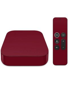Burgundy Apple TV Skin