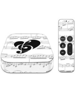 BW Musical Notes Apple TV Skin