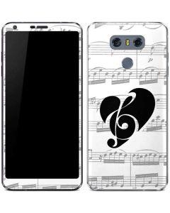 BW Musical Notes LG G6 Skin