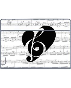 BW Musical Notes Galaxy Book Keyboard Folio 12in Skin