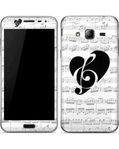 BW Musical Notes Galaxy J3 Skin