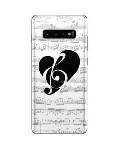 BW Musical Notes Galaxy S10 Plus Skin