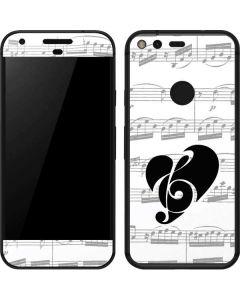 BW Musical Notes Google Pixel Skin
