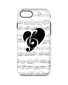 BW Musical Notes iPhone 7 Pro Case