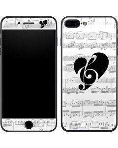BW Musical Notes iPhone 8 Plus Skin