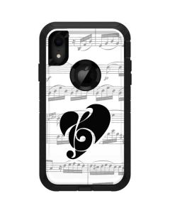 BW Musical Notes Otterbox Defender iPhone Skin