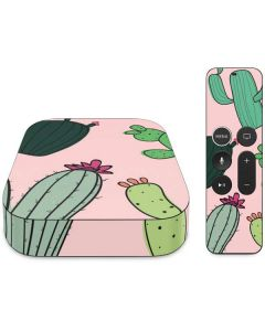 Cactus Print Apple TV Skin