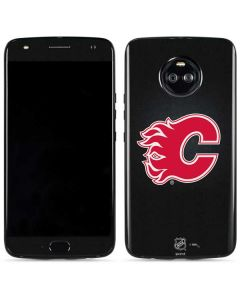 Calgary Flames Black Background Moto X4 Skin